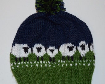 Custom Colors Adult  Knitted Sheep Winter Hat