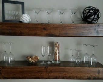Shipping included - Floating Wood Shelves