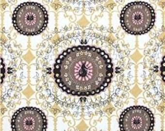 ON SALE FreeSpirit Designer Tina Givens Pernilla's Journey Suzanie Linen/Cotton Decorator Width Fabric in Licorice BTY