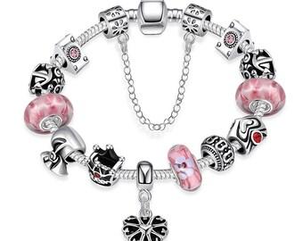 Sweet Bubblegum Pandora Inspired Bracelet