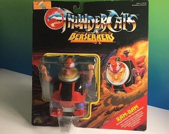 THUNDERCATS RAM BAM Berserkers 1986 Ljn moc action figure sealed unopened Lion O battering rammer vintage rare toy
