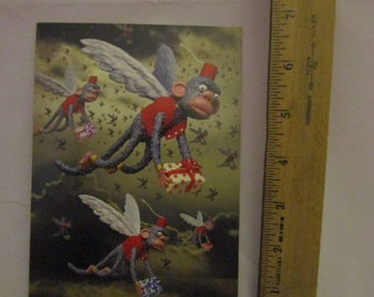 Winged Monkey Greeting Card/No place like Home note card