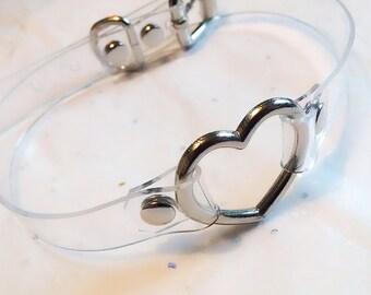 Clear Vinyl Heart Choker