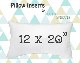 Faux Down Pillow Inserts, Soft Throw Pillows, Lumbar Size Pillow Cushions, Couch Pillows, Throw Pillow Inserts, 12x20""