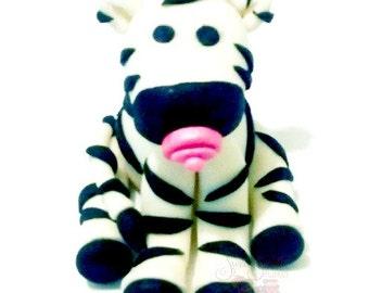 baby zebra cake topper, baby shower, gender reveal party, gumpaste decorations, fondant decorations, cake decorating