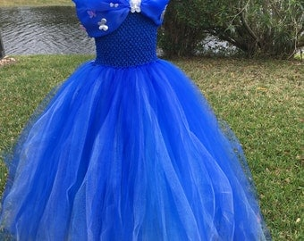 REDUCED. Cinderella inspired tutu dress. Cinderella dress. girls tutu dress. Pageant. Princess. Bridesmaid. Cinderella costume.