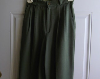 Dark Olive Green Pants by Fundamental Things, Petite Size 4