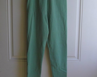 Pale Green Leggings by New York Style, Size Small, Vintage