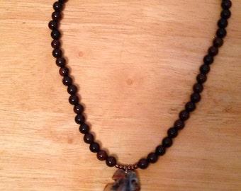 Nakashima- Agate and Wood Necklace