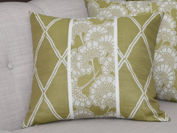 Sage Green Decorative Pillow : Decorative Pillow Cover Sage Green Off White Woven
