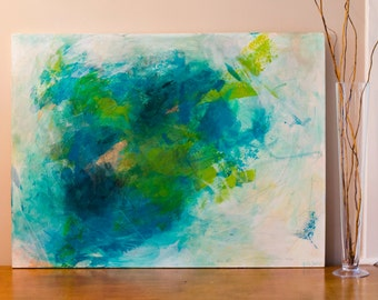 Sea Turtle  //  Abstract Painting