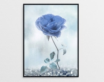 Blue Rose - Fine Art Photography Print, Flower Photography, Blue Flowers, Flower Wall Art, Floral Wall Decor, Beauty Photo
