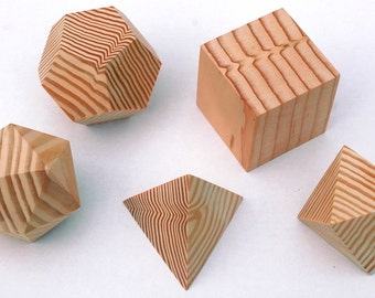 Platonic Solids in Douglas Fir
