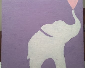 Purple Elephant Painting