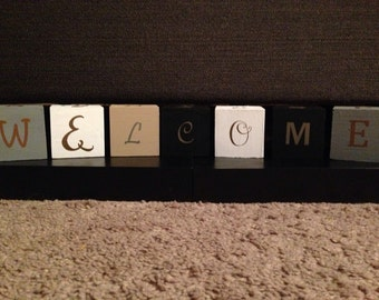 Multi saying decorative word blocks