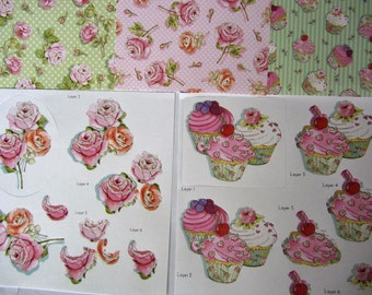 Cupcakes and Roses Cardmaking Kit