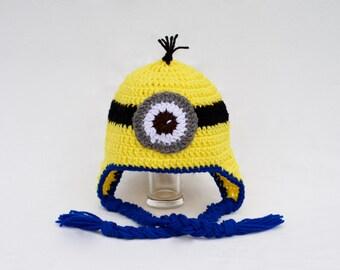 Crochet Despicable me hat - minion hat - Despicable me - crochet character hat