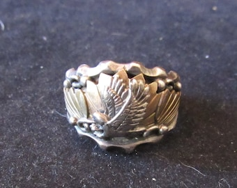 Sterling Silver Eagle Size 11.5 Americana Mens Ring (E0077)