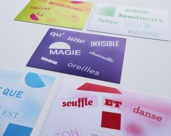 Collection cards Enchantons le Monde / 5 cards 10 x 15 cm