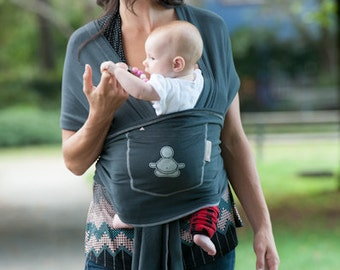 The STORMY GREY Baby Buddha Carrier
