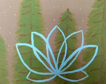 Wisdom Lotus Painting