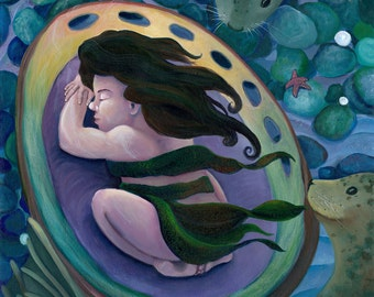 """The Selkie's Child - 30x40"""" giclee print"""