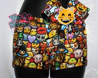 ULTIMATE Emoji - Wacki Bow Set - Awesome Emoji Wacki shorts and matching bow!