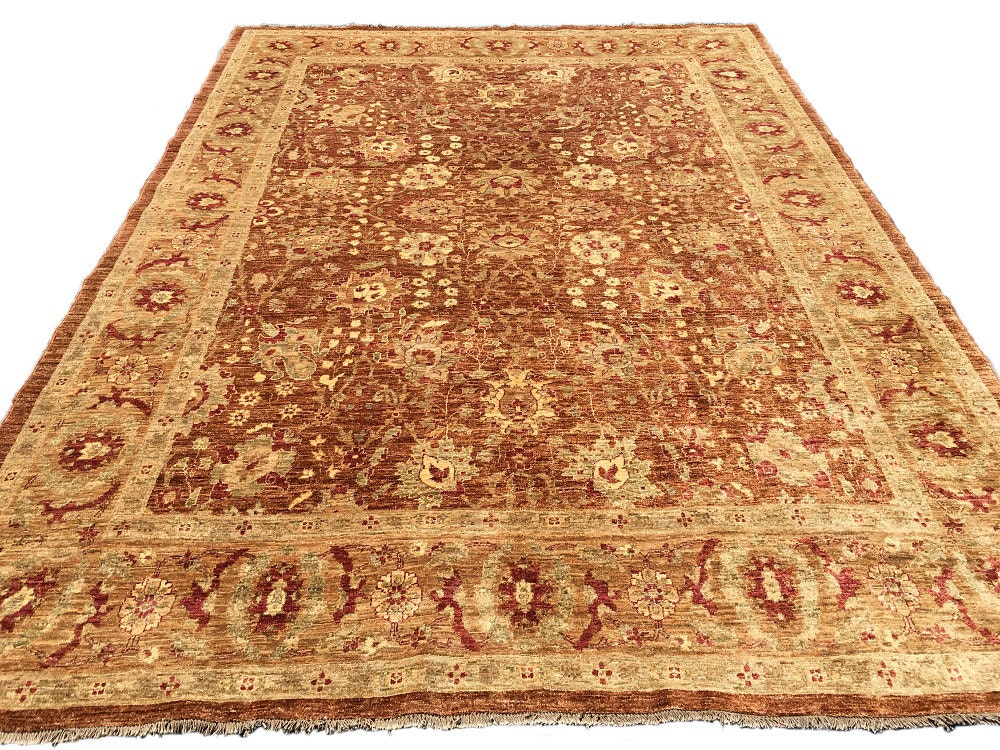 Beautiful Oushak Oriental Rug Living Room Brown Traditional Area