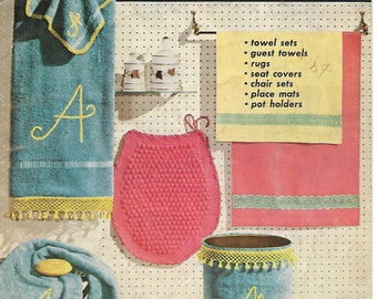 Crochet Patterns, Home Decor Decorating Ideas to Crochet, Coats Clarks Book No. 323 Pub. in 1956
