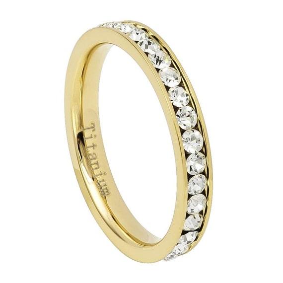 elmanjewelry 3mm eternity band womens eternity ring cz