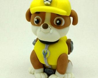 Paw Patrol Rubble the Rescue Dog Cake Topper, Birthday Cake Edible Topper