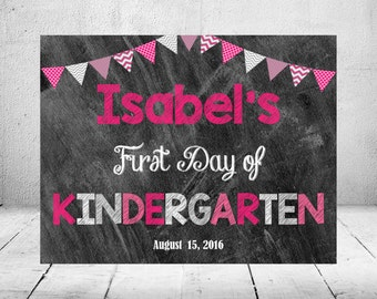 Chalkboard First Day of School Sign/Digital File/Back to School/Printable/Prints/Photo Prop