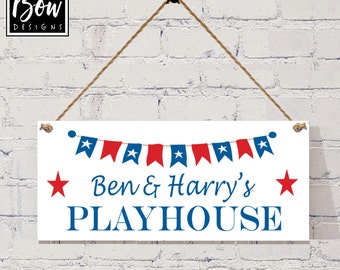 Personalised boys playhouse sign plaque,den sign, cowboy, rodeo