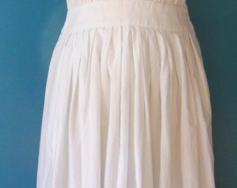 White Halter dress size 38 Vintage
