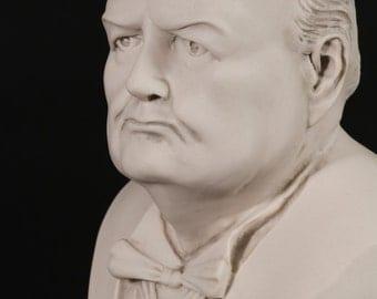Sir Winston Churchill Bust Marble Sculpture