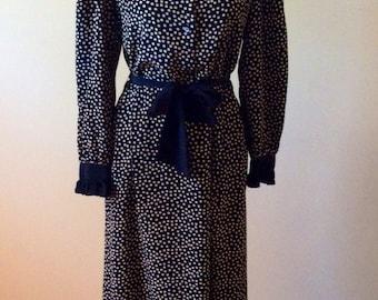 Vintage 1980s dress/ jack mulqueen new york dress