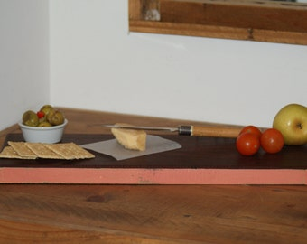 Reclaimed Iron bark Timber Serving Board with Rustic Milk Painted Edges