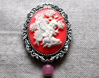 Cameo brooch Fairy