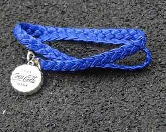 Leather Braid COCA COLA Bracelet