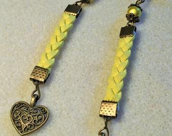 """The yellow heart"" earrings"
