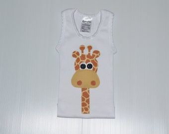 Giraffe Applique Singlet