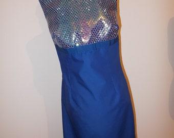 100% cotton dress with light blue sz. 44