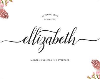 Ellizabeth Modern Calligraphy Typeface