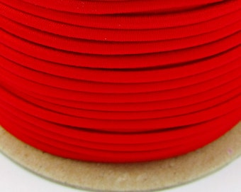 5, 10, 50 m rubber cord 3 mm Red