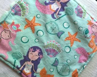 Mermaid Security blanket, comfort blanket, under the sea, nautical
