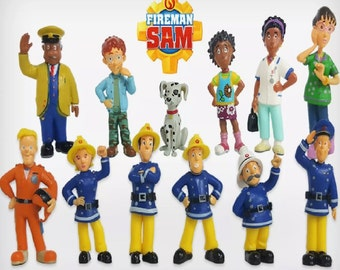 Mister A Gift Fireman Sam set of 12 Plastic Cake toppers