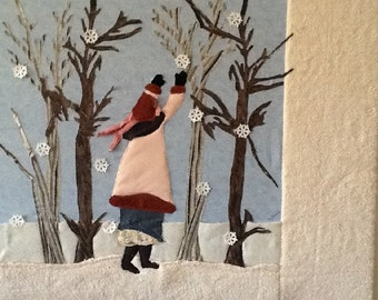 Catch a Falling  Flake wall hanging