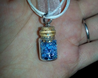 Glow in the Dark Glass Vial Necklace