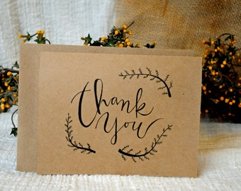 Hand Drawn Thank You Cards (set of 8)