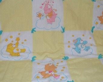 Vintage Care Bears Baby Blanket